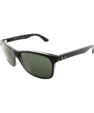 RayBan Rb4181 57 highstreet top mat sort på trasp grå 6130 solbriller