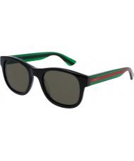 Gucci Mens gg0003s sort grønne solbriller