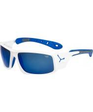 Cebe Ice 8000 skinnende hvid blå solbriller