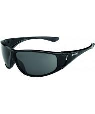 Bolle Highwood skinnende sort polariseret TNS-solbriller