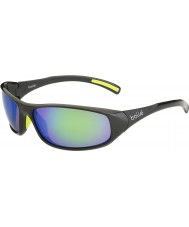 Bolle Crest skinnende antracit brune smaragd solbriller