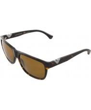 Emporio Armani Ea4035 58 moderne mørk havana 502683 polariserede solbriller