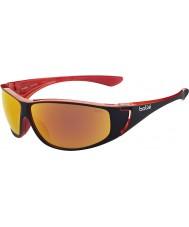 Bolle Highwood skinnende sort rød polariseret TNS brand solbriller