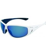 Bolle Highwood skinnende hvid blå polariserede offshore blå solbriller