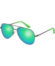 Puma Kids pj0010s ruthenium grønne solbriller