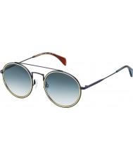 Tommy Hilfiger Th 1455-s bqz 08 mat blå solbriller