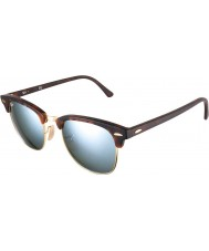 RayBan Rb3016 51 Clubmaster sand skildpaddeskal-guld 114.530 sølv spejl solbriller