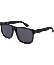 Gucci Mens gg0010s sorte solbriller