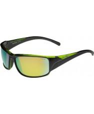 Bolle Keelback skinnende sort grøn polariserede brune smaragd solbriller