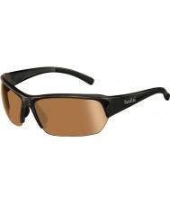 Bolle Ransom skinnende sorte modulator v3 golf solbriller