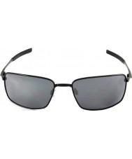 Oakley Oo4075-01 firkantet tråd poleret sort - sort iridium solbriller