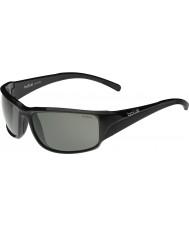 Bolle Keelback skinnende sorte modulator polariseret grå solbriller