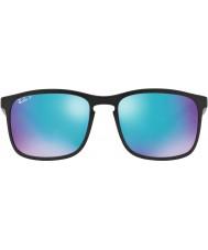 RayBan Rb4264 58 tech chromance mat sort 601sa1 blå blink polariseret solbriller