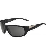 Bolle Køl skinnende sorte modulator polariseret grå solbriller