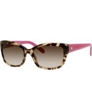 Kate Spade New York Ladies Johanna-s ryp Y6 havana lyserøde solbriller