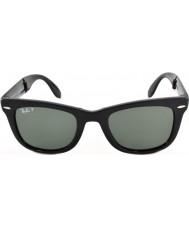 RayBan Rb4105 50 folde Wayfarer sort 601-58 polariserede solbriller