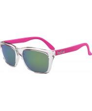 Bolle 527 retro indsamling skinnende krystal pink brun smaragd solbriller