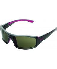 Cebe Udflugt skinnende antracit lyserøde solbriller