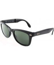 RayBan Rb4105 50 folde wayfarer mat sort 601s solbriller