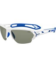 Cebe S-track store skinnende hvide solbriller
