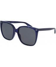 Gucci Ladies gg0022s blå solbriller