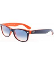 RayBan Rb2132 52 nye wayfarer top blå-orange 789-3f solbriller