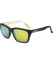 Bolle 527 retro kollektion mat sort grafik polariseret brun smaragd solbriller