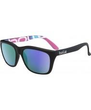 Bolle 527 retro kollektion mat sort grafik polariseret blå-violette solbriller