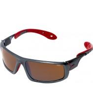 Cebe Ice 8000 mørkegrå røde solbriller