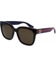 Gucci Ladies gg0034s Havana blå solbriller