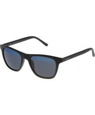 Police Mens hot 1 s1936v-u28b mat sort spejlet blå solbriller