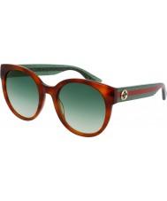Gucci Ladies gg0035s havana grønne solbriller