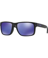 Oakley Oo9102-26 Holbrook julian wilson mat sort - violet iridium solbriller