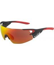 Bolle 5. element pro skinnende mat carbon rød TNS brand solbriller