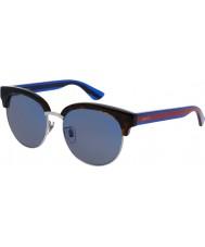 Gucci Mens gg0058sk Havana blå solbriller