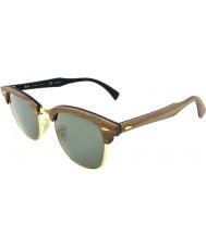 RayBan Rb3016m 51 Clubmaster træ valnød gummi sort 118158 polariserede solbriller