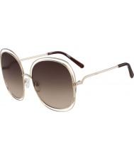 Chloe Ladies ce126s steg guld og brune solbriller