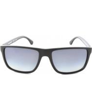 Emporio Armani Ea4033 56 moderne sort grå gummi 5229t3 polariserede solbriller