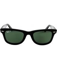 RayBan Rb2140 original wayfarer sort - grøn polariseret