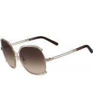 Chloe Ladies ce129s rosa guld og transperent brune solbriller