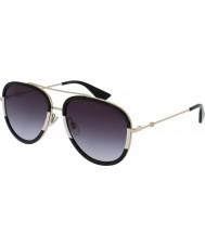 Gucci Ladies gg0062s guld grå solbriller