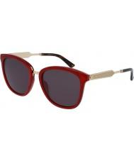 Gucci Gg0073s røde guld solbriller