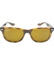 RayBan Junior Rj9052s 47 nye wayfarer skinnende havana 152-3 solbriller