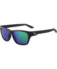 Cebe Hacker skinnende sort grøn 1500 grå flash spejl grønne solbriller