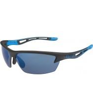 Bolle Bolt mat sort rose-blå solbriller