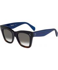 Celine Ladies cl 41090-s QLT Z3 sort Havana blå solbriller