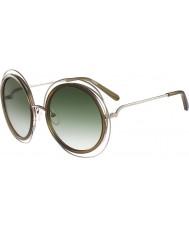 Chloe Ladies ce120s Carlina guld kaki solbriller