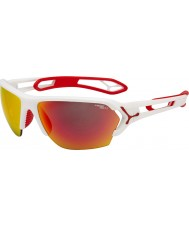 Cebe S-track store mat hvid rød solbriller