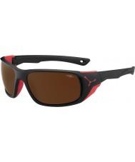 Cebe Jorasses store matte sort rød 2000 brun flash spejl solbriller