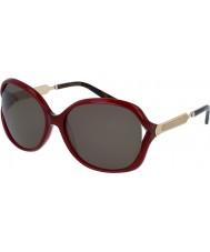 Gucci Ladies gg0076s bordeaux guld solbriller